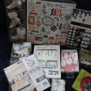 Various Holiday - Crafting Mixed Lot Paper Pad Crate Paper